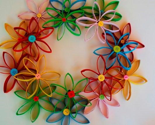 flores de Navidad de papel - coronas