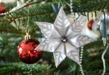 flores de Navidad de papel - fantasia