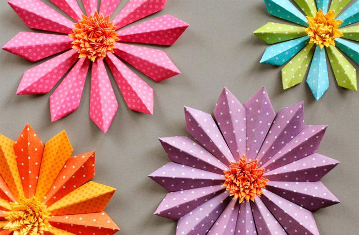 Como Hacer Flores De Navidad De Papel