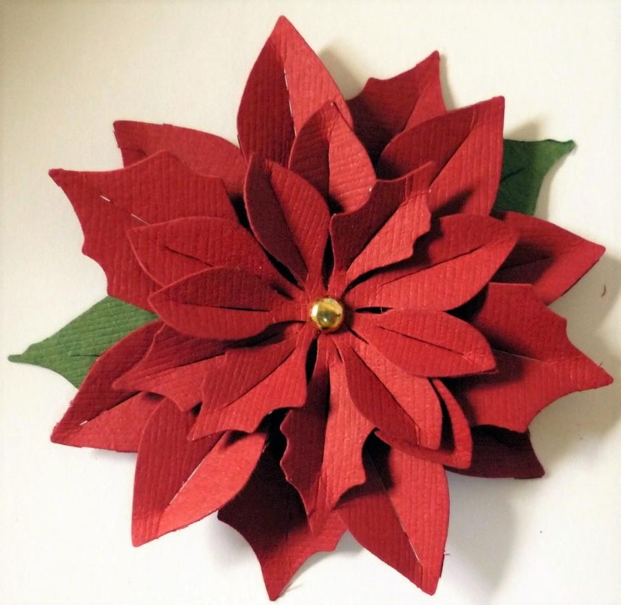 flores de Navidad de papel - flor de pascua
