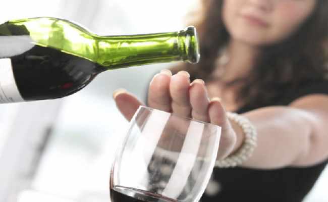 no alcohol para la dieta