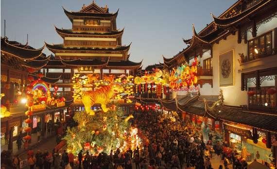 shanghai en navidad lugares del mundo