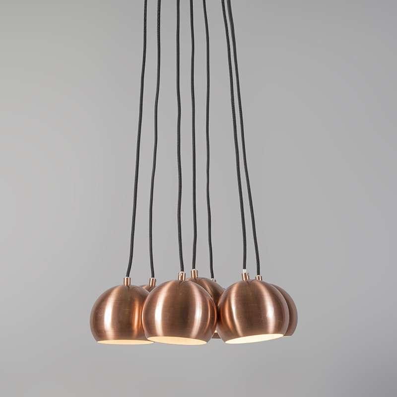 Lámpara cluster 7 cobre