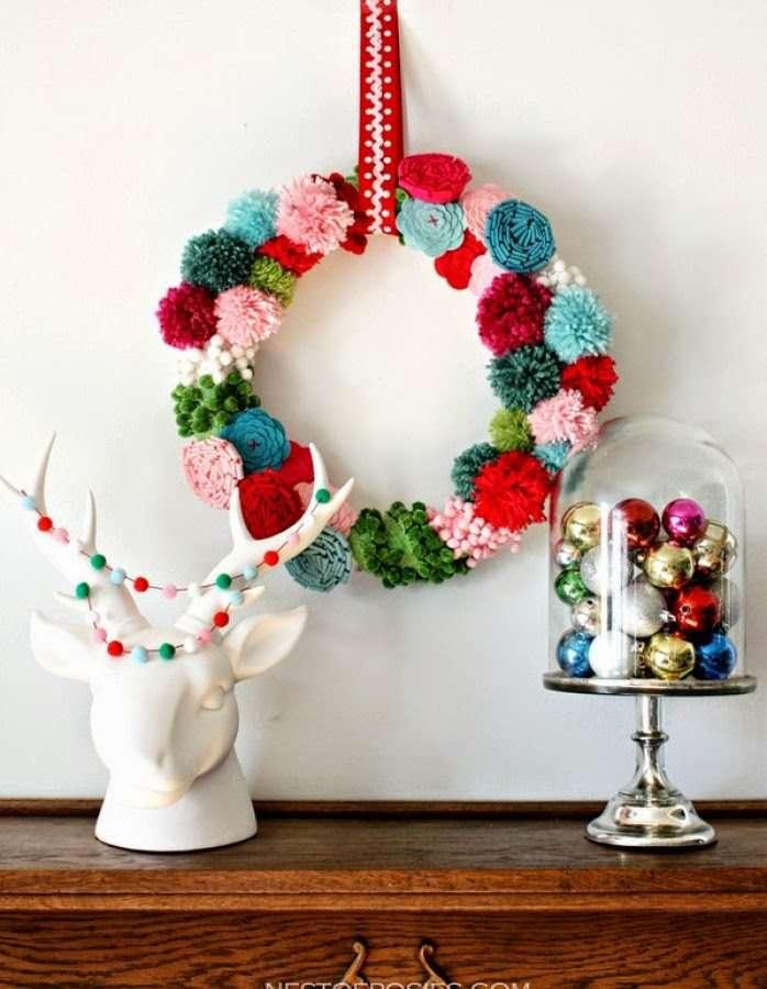 manualidades de Navidad - pompones