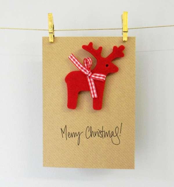 manualidades de Navidad - postales