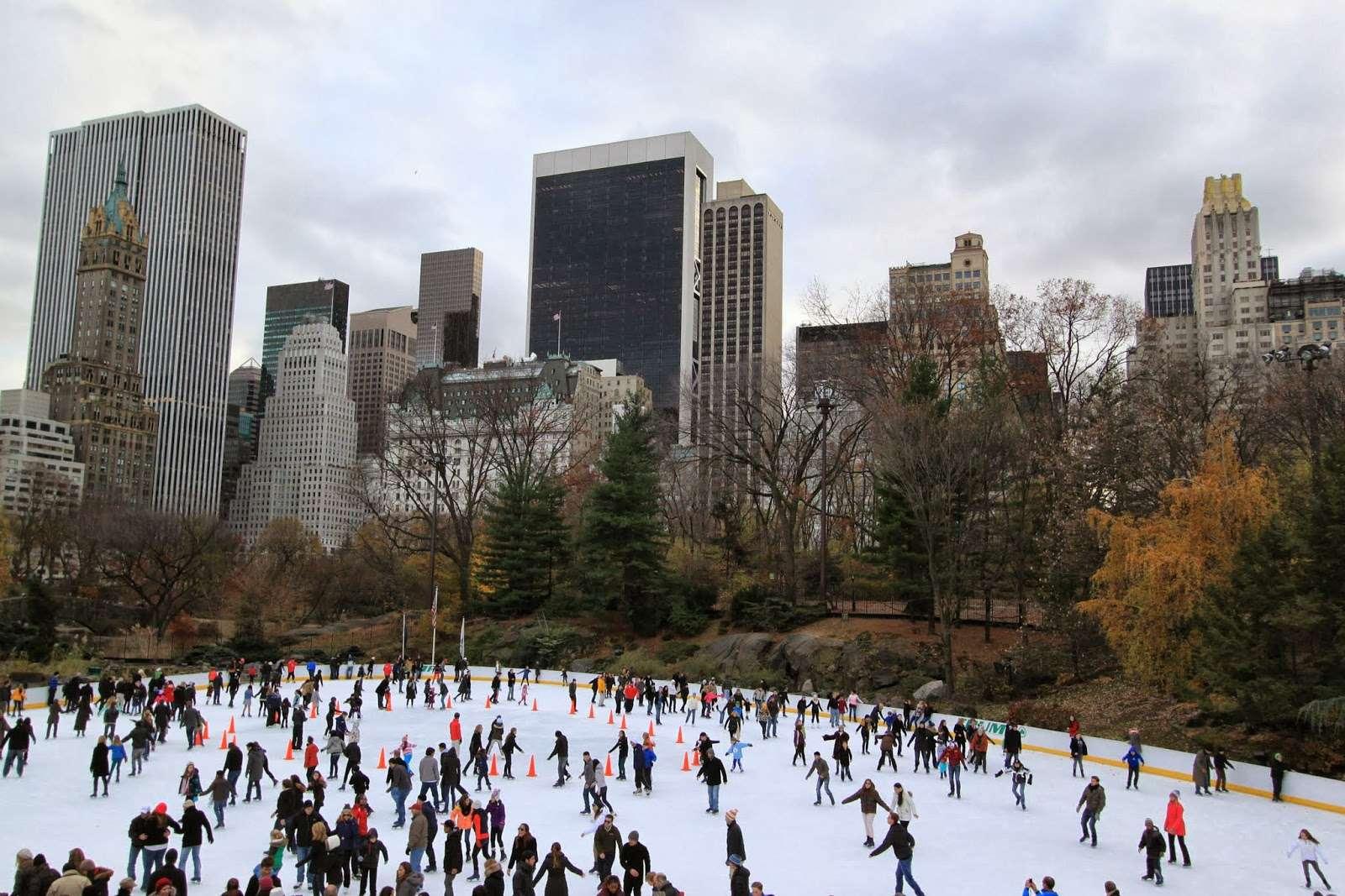 Navidad en New York - patinar sobre hielo