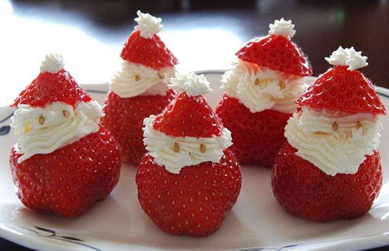 Recetas de Navidad - Papa Noel de fresas con nata