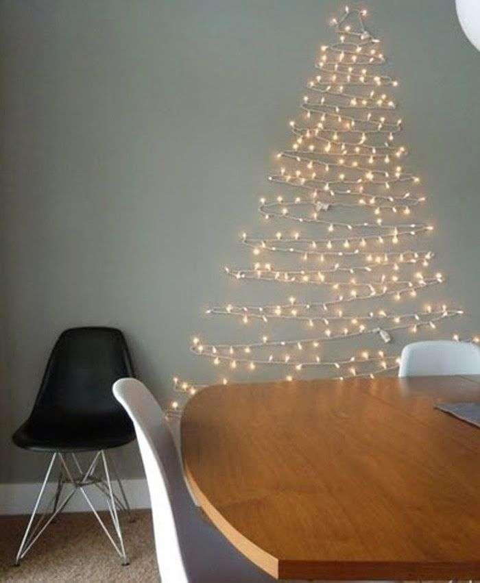 Decoración low cost con luces de Navidad
