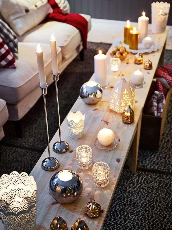 Luces de Navidad - velas