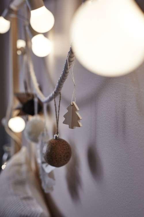 Colección navideña de Ikea - adornos madera