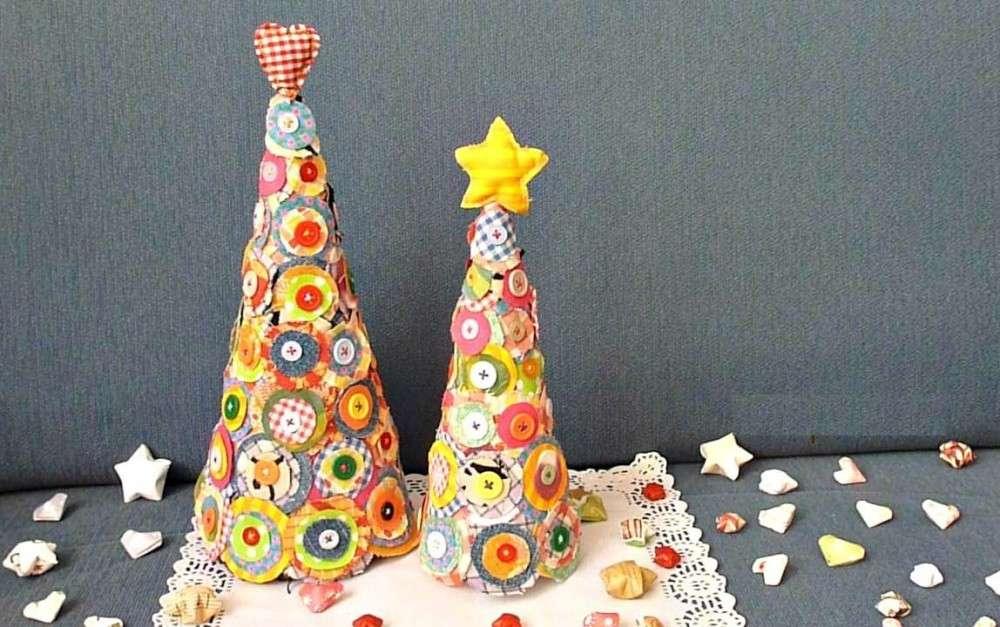 Adornos de Navidad- árboles de tela