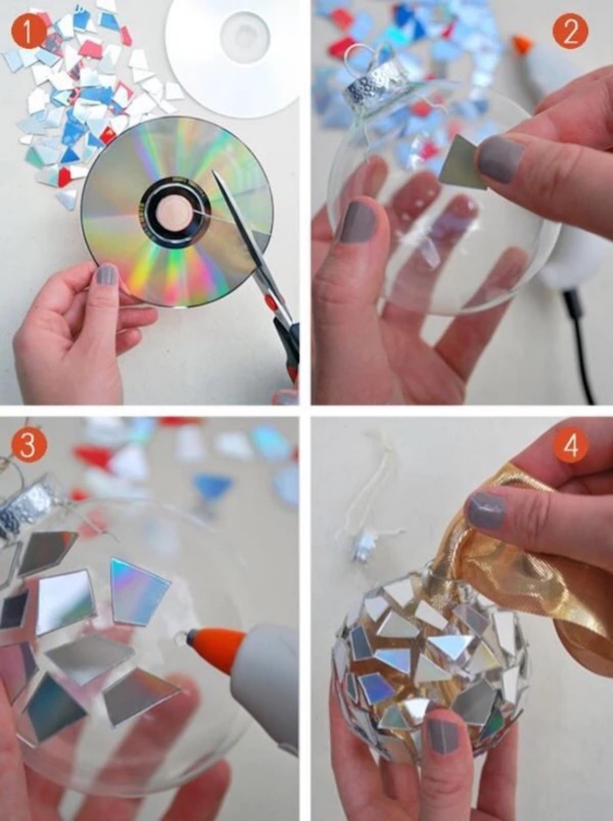 Adornos de Navidad con cds