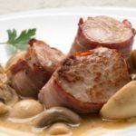 Recetas fáciles - Solomillo de cerdo al vino con champiñones