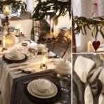 decoración vintage - mesa navideña