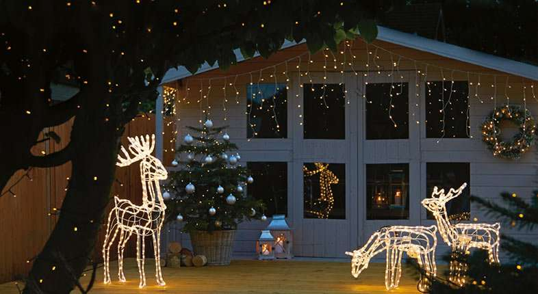 Iluminación de Navidad - renos