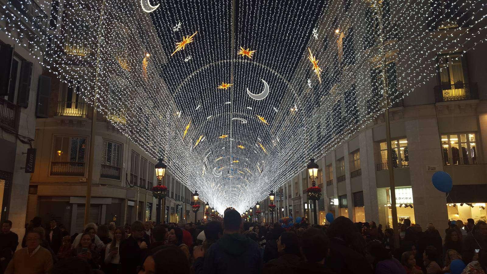 Iluminación navideña Málaga