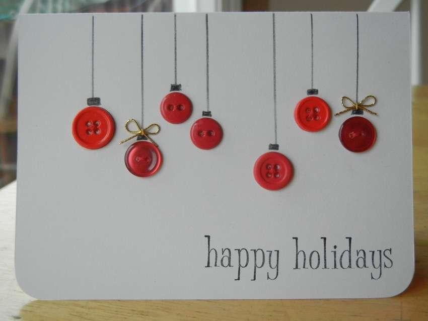 Tarjetas de felicitación de Navidad con botones
