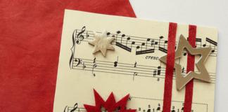 Tarjetas de felicitación de Navidad - Pentagrama musical