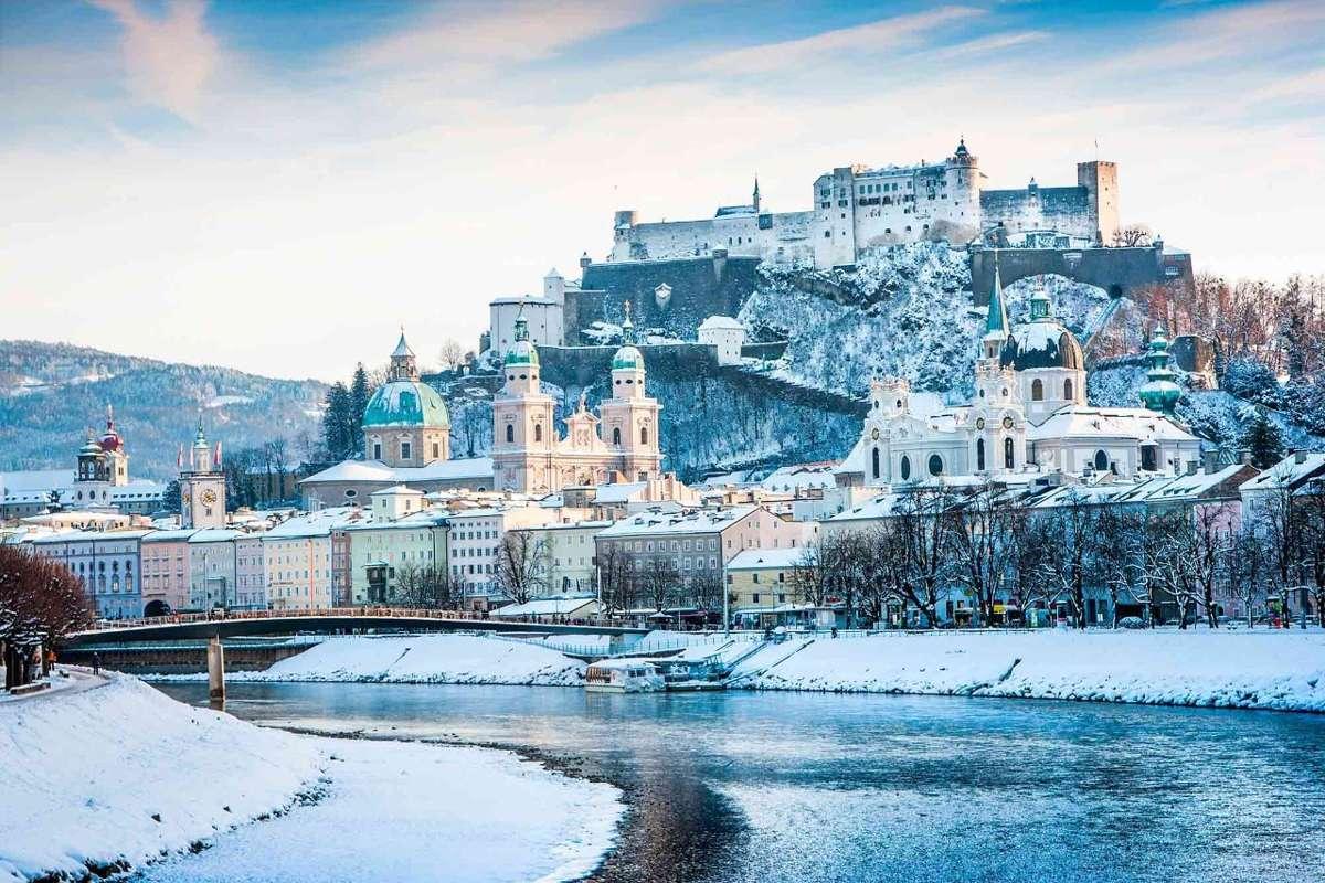 Nieve en Salzburgo