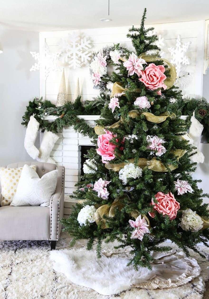decoración de Navidad con rosas