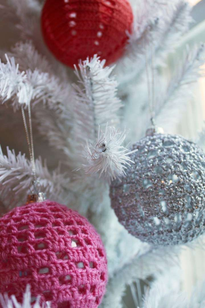 decoración de Navidad - bolas de crochet