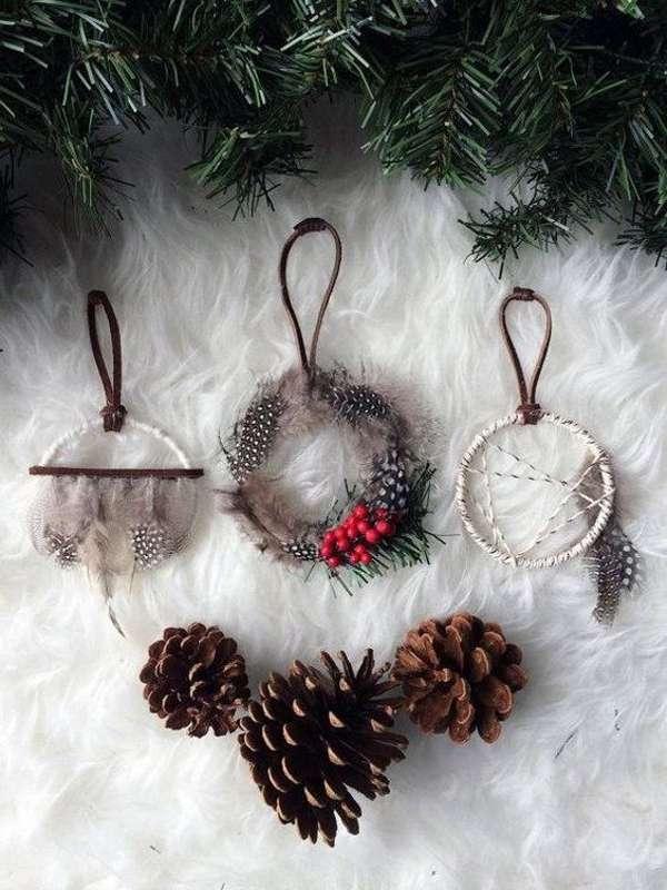 decoración de Navidad con ramas