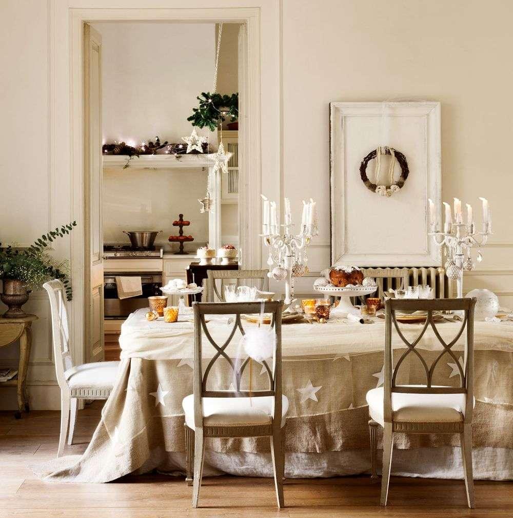 decoración de Navidad de la mesa