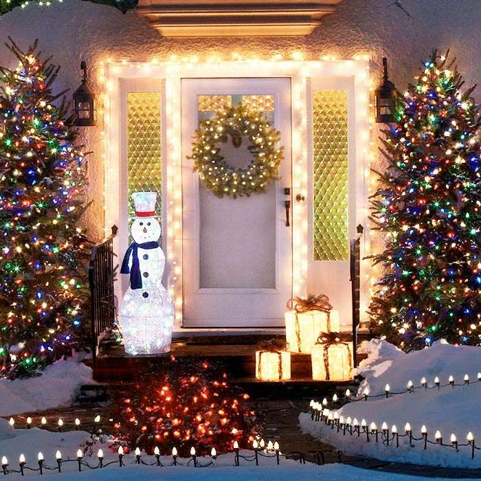 jardines navideños - senderos iluminados