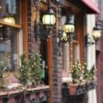 jardines navideños - decorar ventanas y balcones