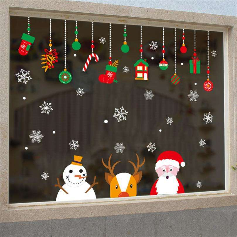 jardines navideños - ventanas decoradas