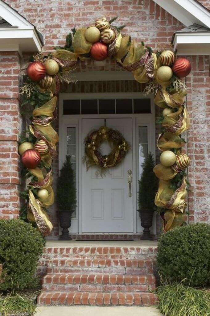 jardines navideños - adornos dorados