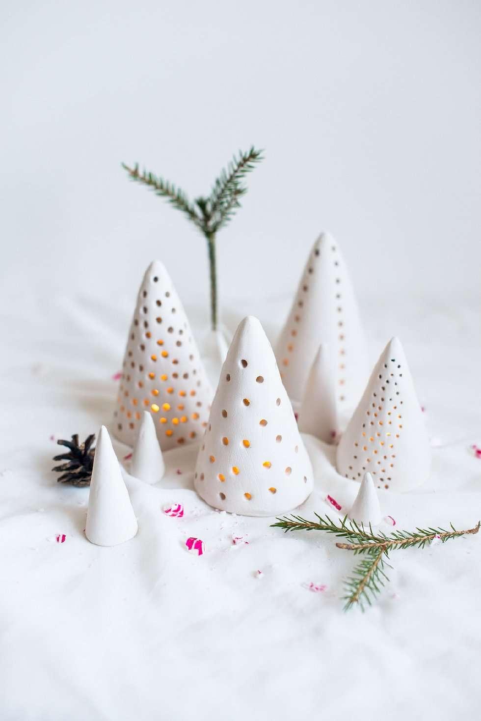 adornos de Navidad con arcilla