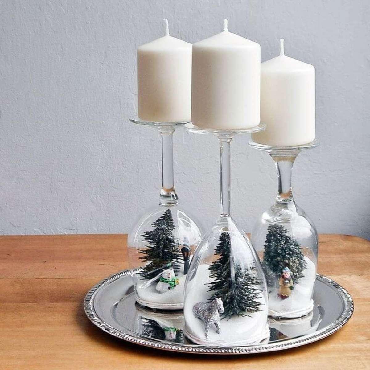 adornos de Navidad con copas
