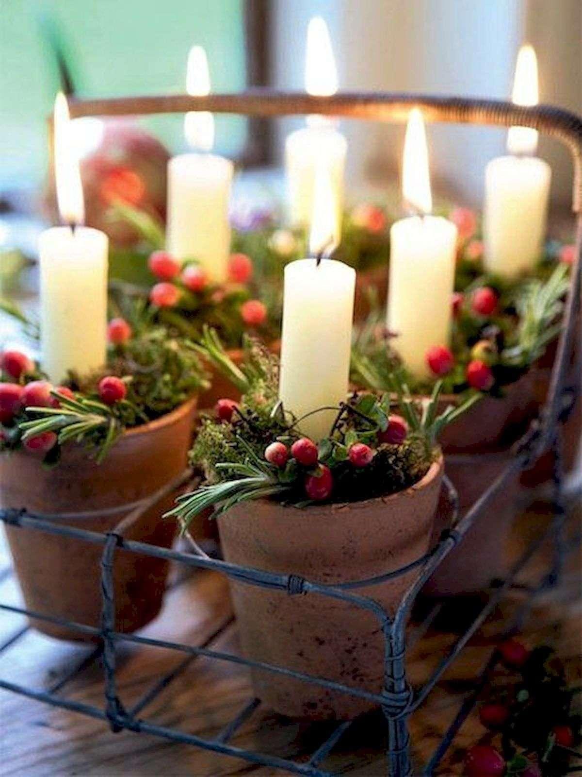 celebrar la Navidad - centros de mesa