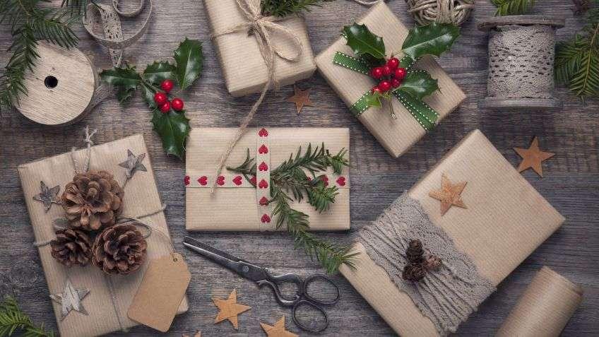 celebrar la Navidad - envoltorios naturales