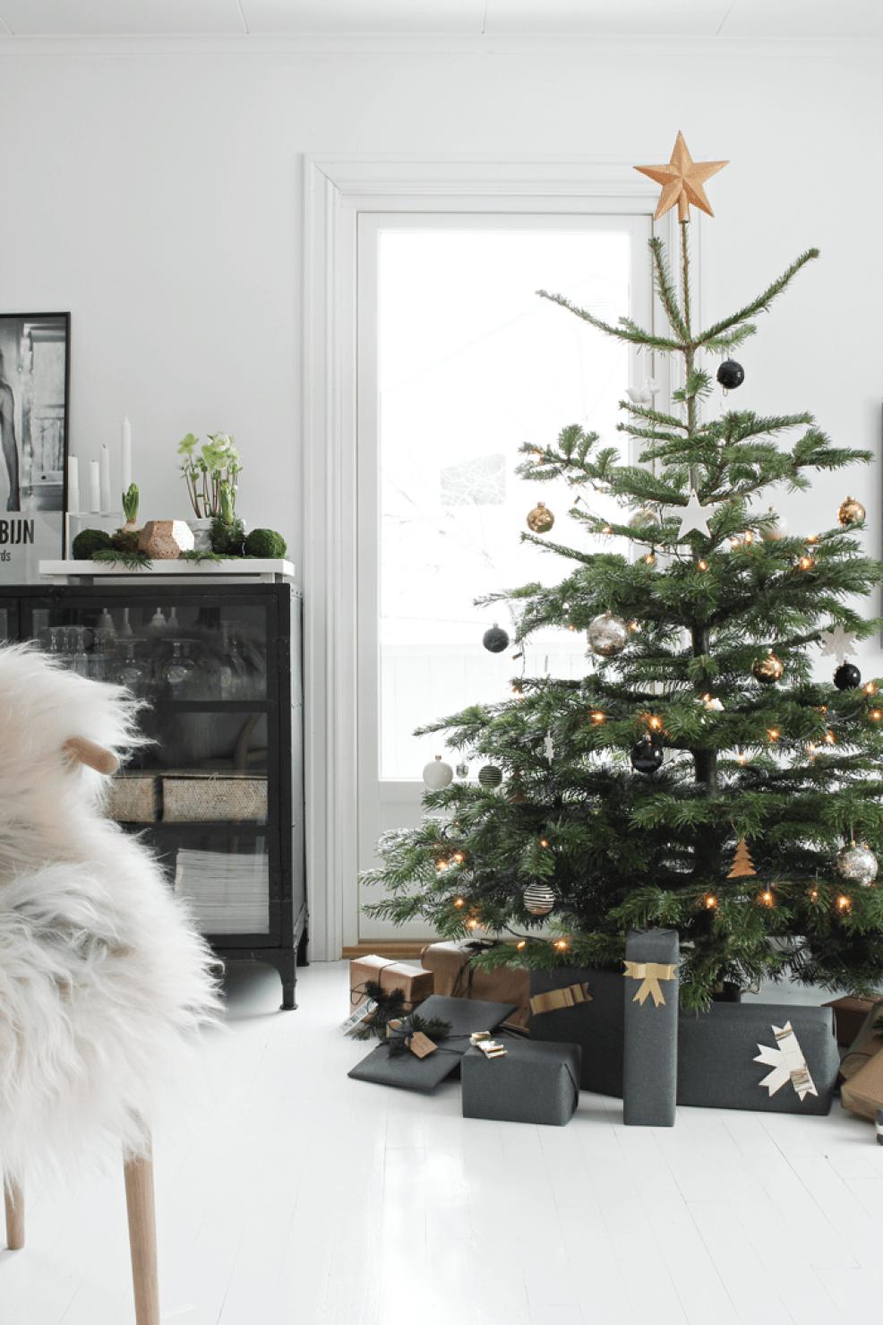 celebrar la Navidad - árbol nórdico