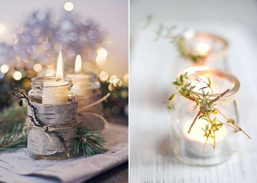 celebrar la Navidad con velas