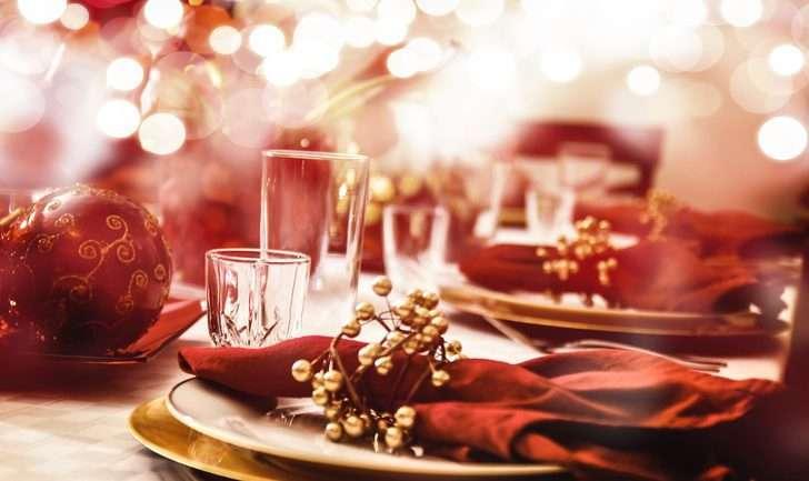 decoración de Navidad - la mesa