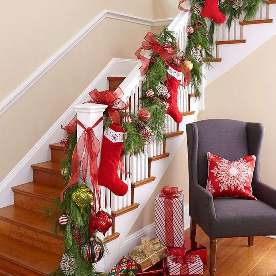 decoración de Navidad - escaleras