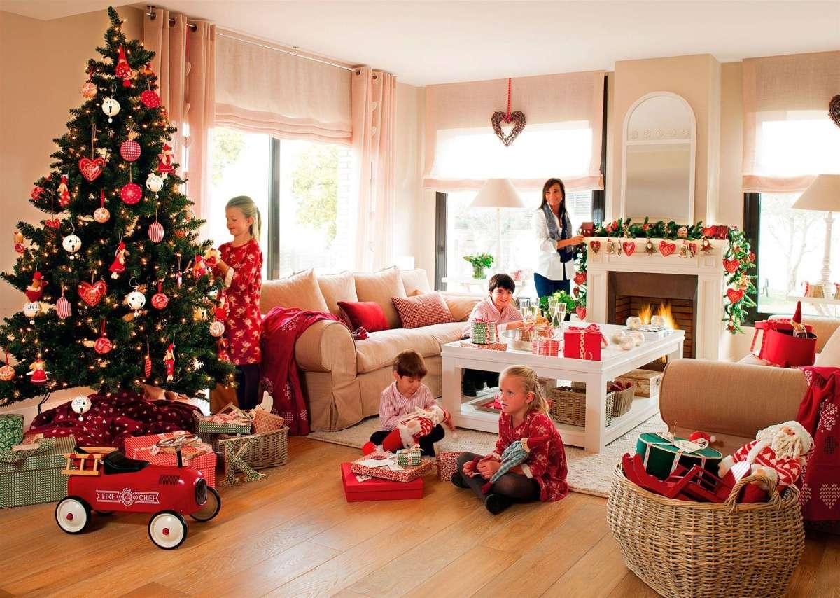 decoración de Navidad en rojo
