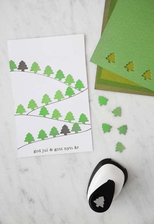 Felicitaciones de Navidad - Un bosque de abetos