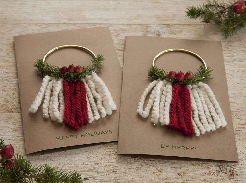 Felicitaciones de Navidad - Campanitas de lana