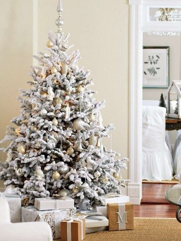 árbol de Navidad nevado
