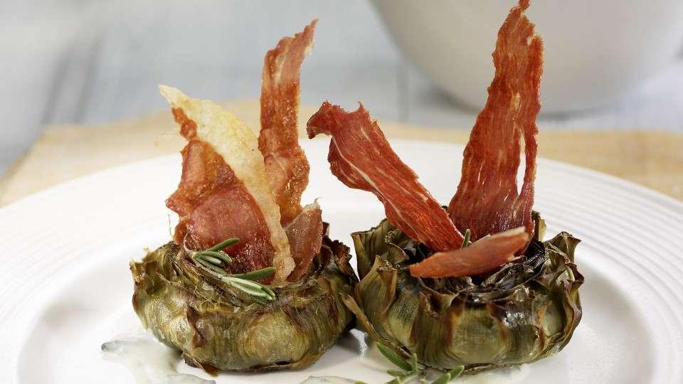 Recetas saludables - Alcachofas con jamón
