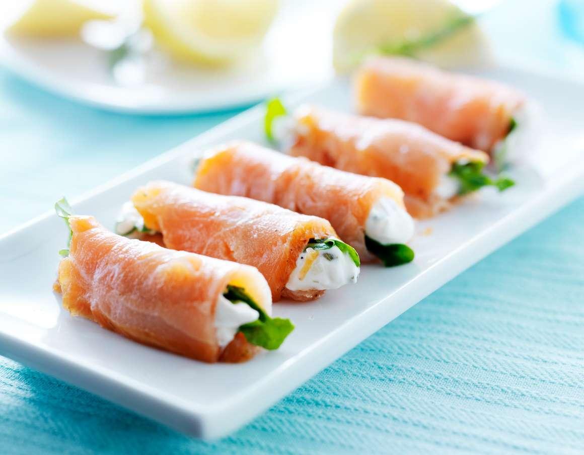 Recetas saludables - Rollitos de salmón ahumado