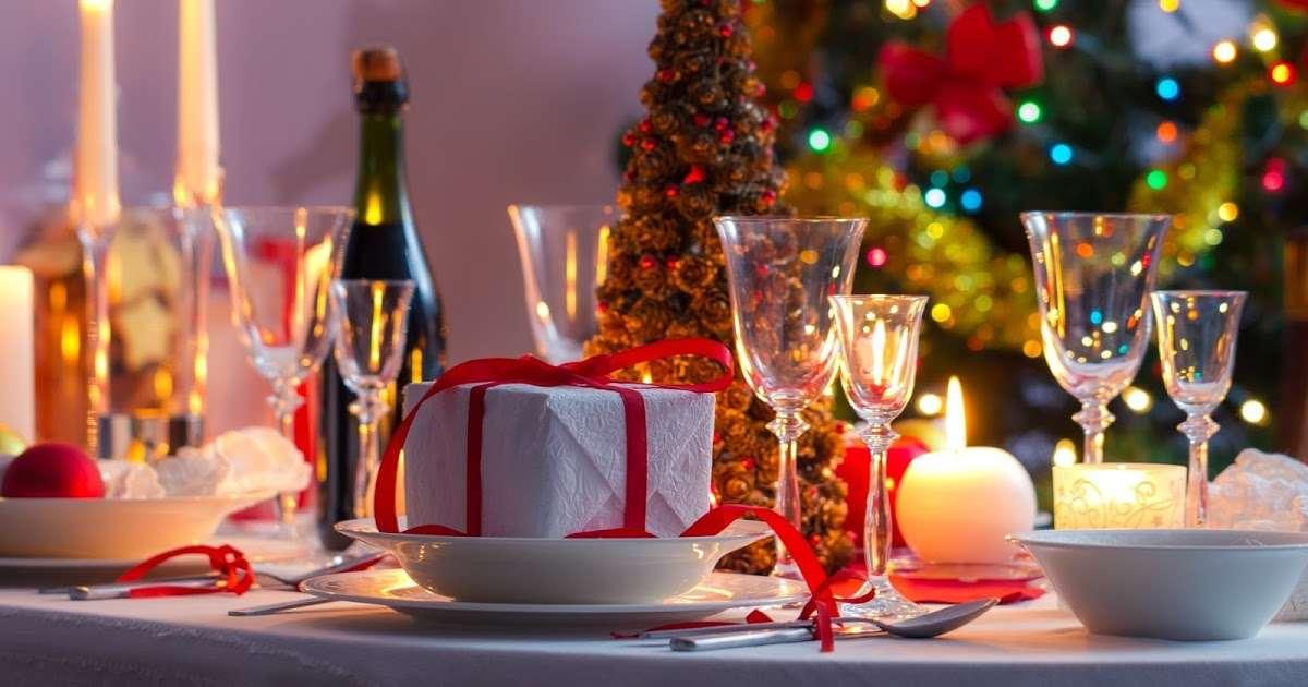 Decoración navideña - mesa