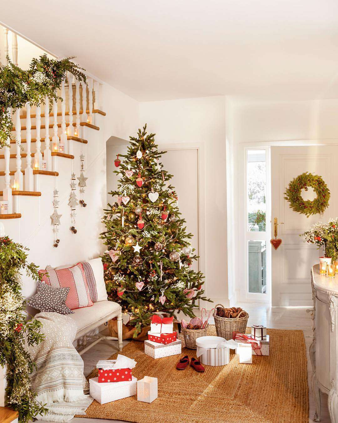 Decoración navideña - recibidor