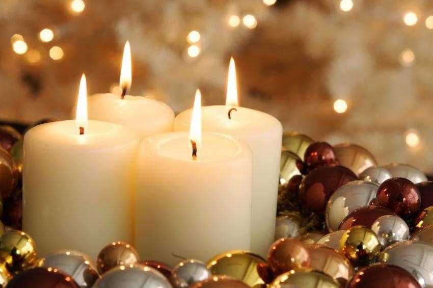 Decoración navideña - velas