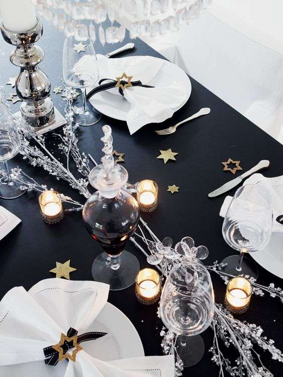 decorar la mesa en nochevieja II