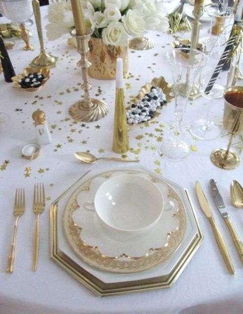 decorar la mesa en Nochevieja III